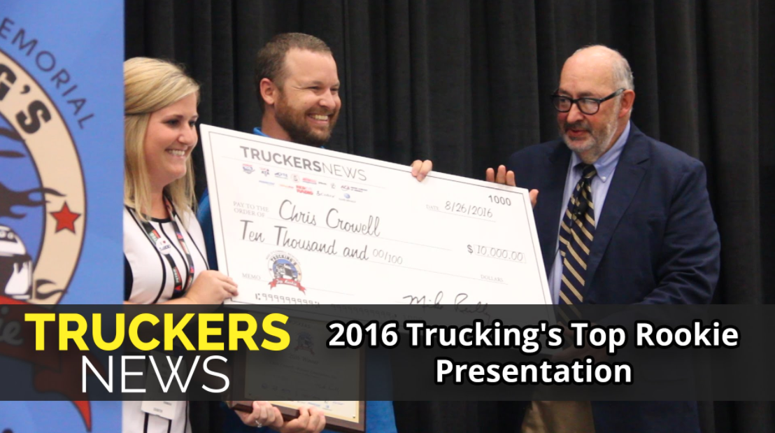 2016 Trucking's Top Rookie Winner, Chris Crowell