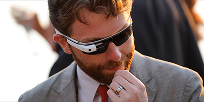 Business Man With Google Glass