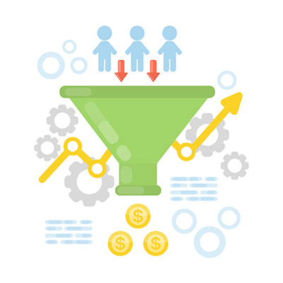 Marketing Funnel Graphic