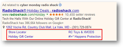 Search Ad Sitelink Extension
